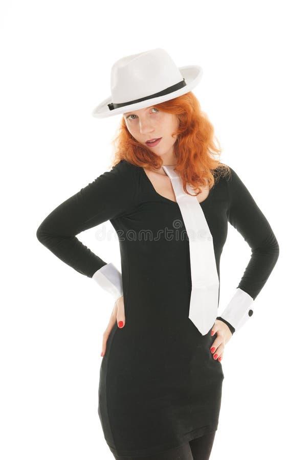 Kobieta ubieraj?ca dla przyj?cia fotografia royalty free