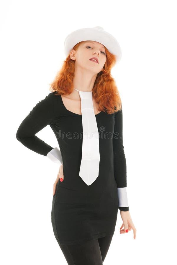 Kobieta ubieraj?ca dla przyj?cia zdjęcia royalty free