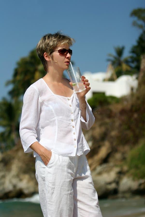 kobieta urlopowa fotografia stock
