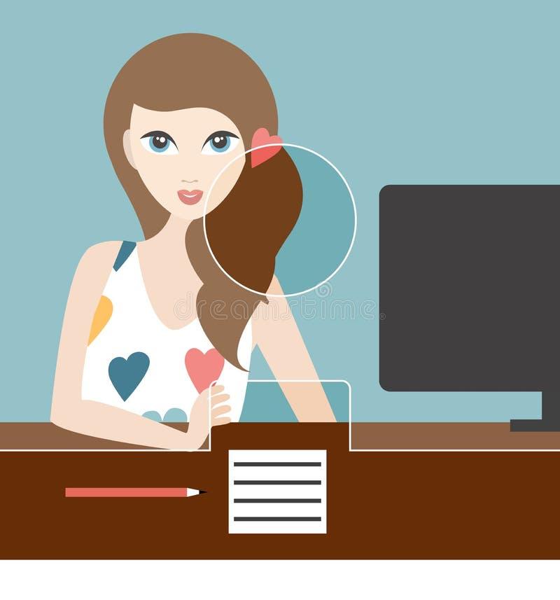 Kobieta urzędnik w banku royalty ilustracja