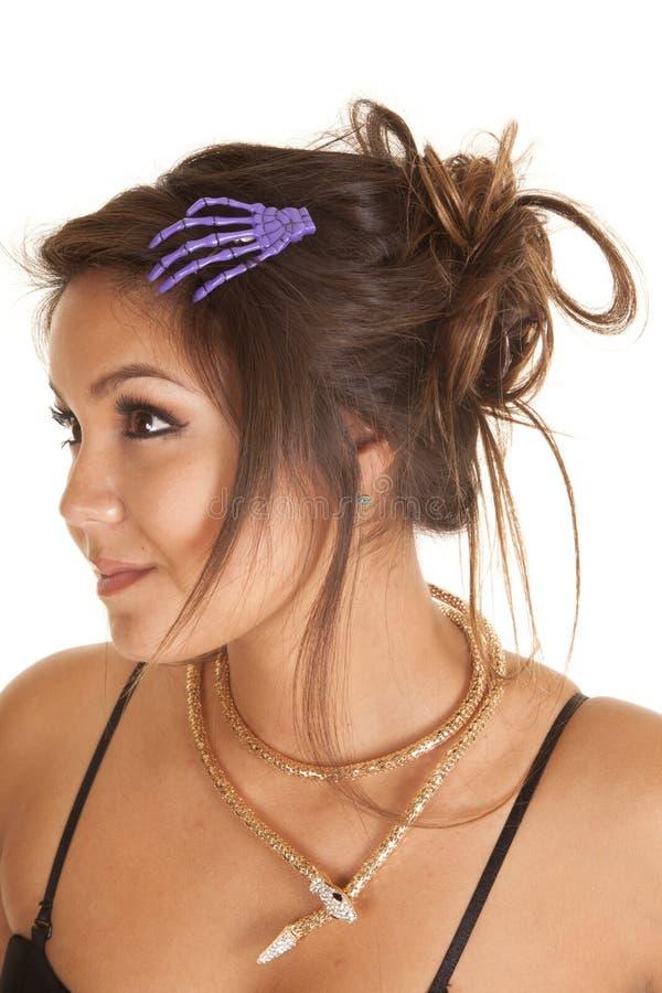 Kobieta włosy kościec obraz stock
