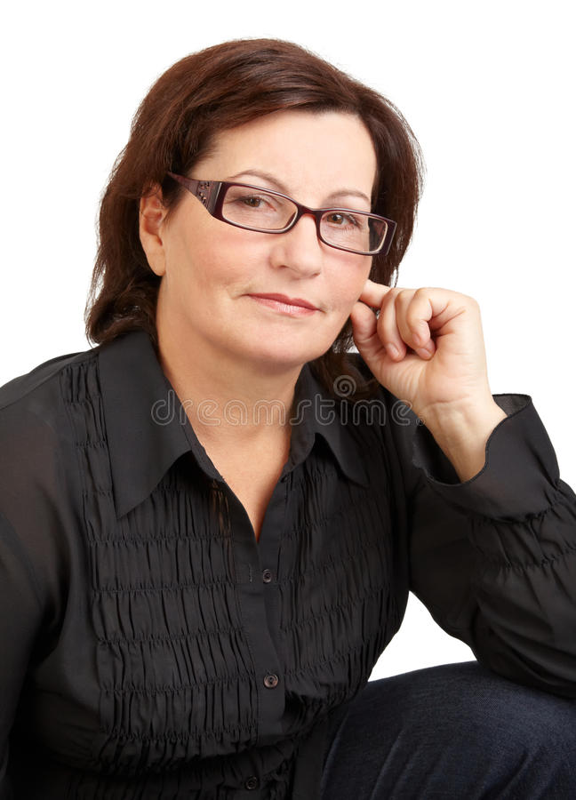 Kobieta w średnim wieku portret zdjęcie royalty free