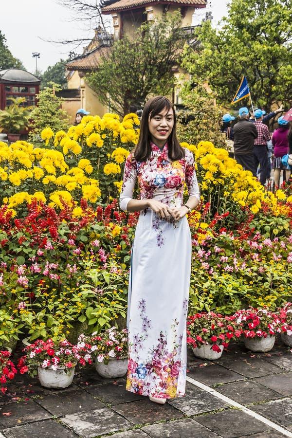 Kobieta w Ao Dai fotografia royalty free