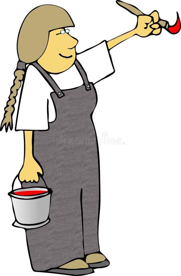 kobieta w artysty ilustracja wektor