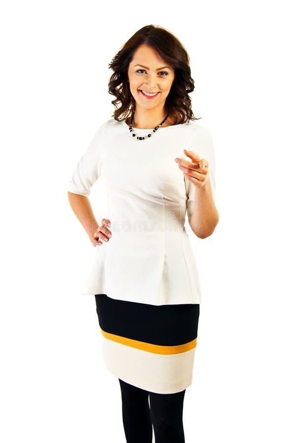 Download Kobieta W Biznesu Jednolity Wskazywać Przy Tobą Obraz Stock - Obraz złożonej z kopia, nowożytny: 28950441