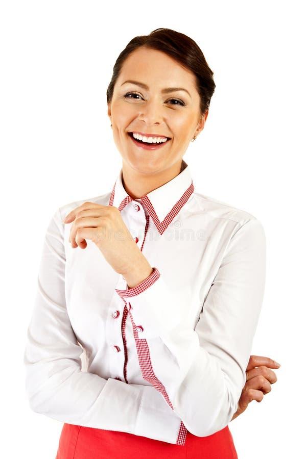 Download Kobieta W Biznesu Munduru Ono Uśmiecha Się Obraz Stock - Obraz złożonej z femaleness, model: 28950485