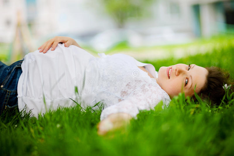 kobieta w ciąży fotografia royalty free