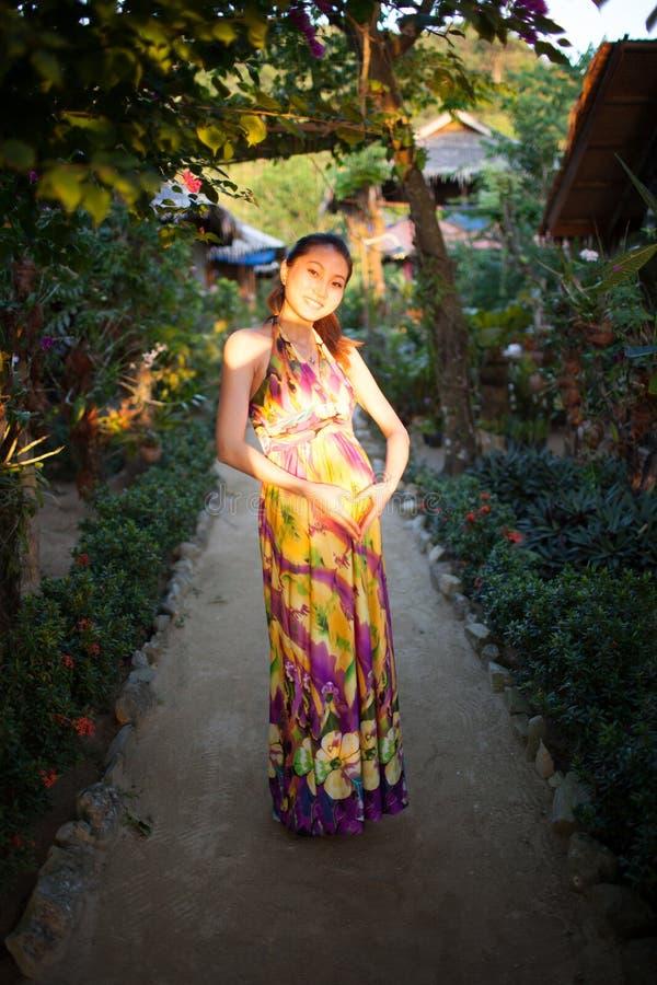 Kobieta w ciąży zdjęcie royalty free