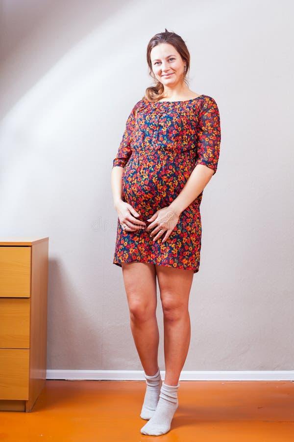kobieta w ciąży potomstwa zdjęcie royalty free