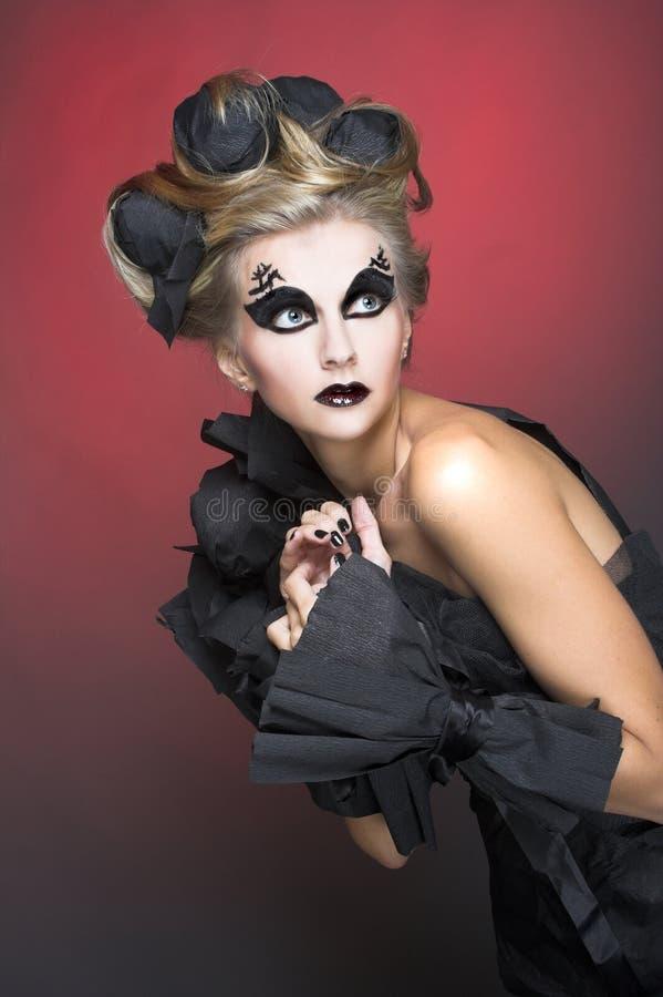 Kobieta w czerni. zdjęcia stock