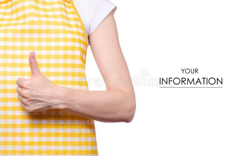 Kobieta w fartucha wzorze fotografia stock