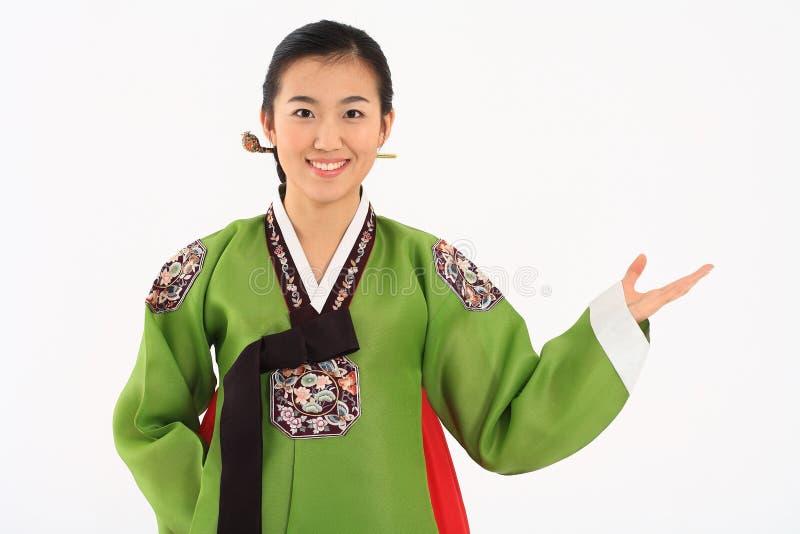 Kobieta w koreańczyk sukni zdjęcia stock