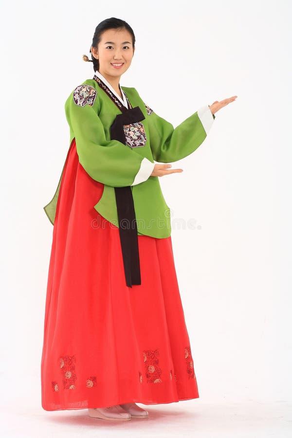 Kobieta w koreańczyk sukni fotografia royalty free