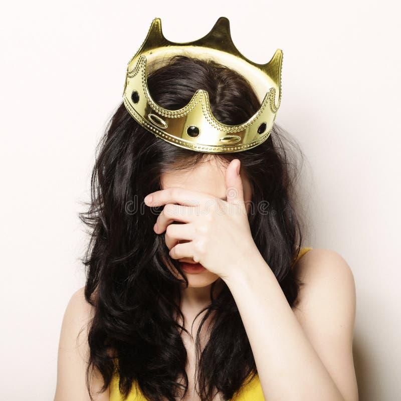 Kobieta w koronie zdjęcia royalty free