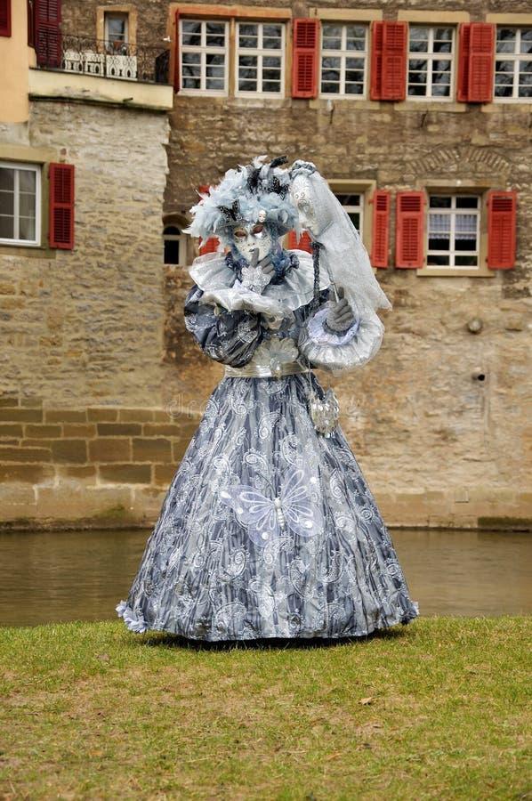 Kobieta w kostiumu Wenecja obraz stock
