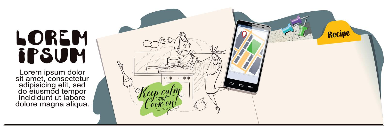 Kobieta w kuchni _ Reklamować twój produkty royalty ilustracja