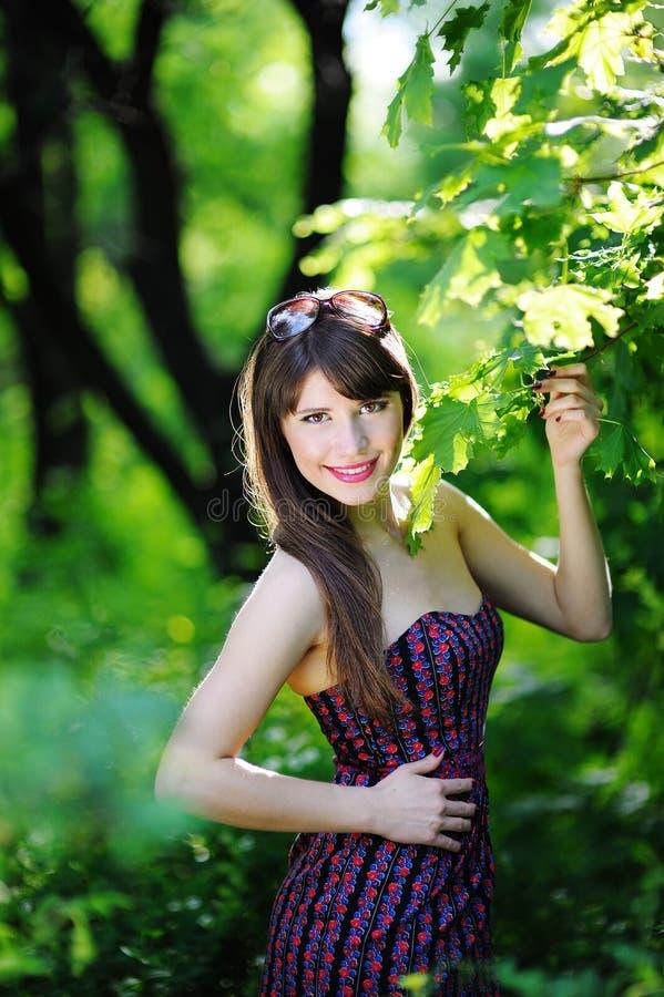 Kobieta w naturze fotografia stock