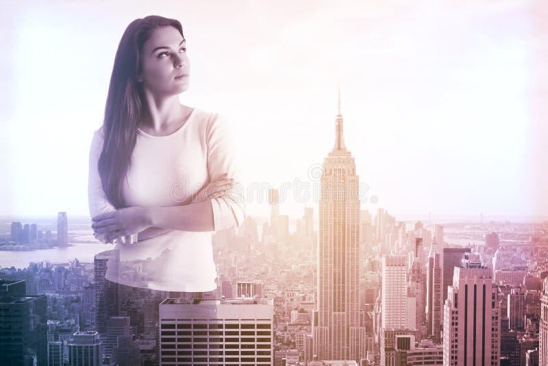 Kobieta w Nowy Jork zdjęcie royalty free