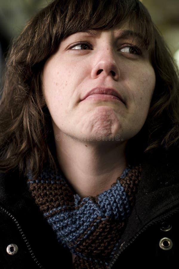 Kobieta w obmierzłości zdjęcie stock