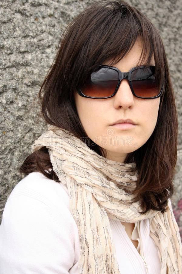 Kobieta w okulary przeciwsłoneczne fotografia royalty free