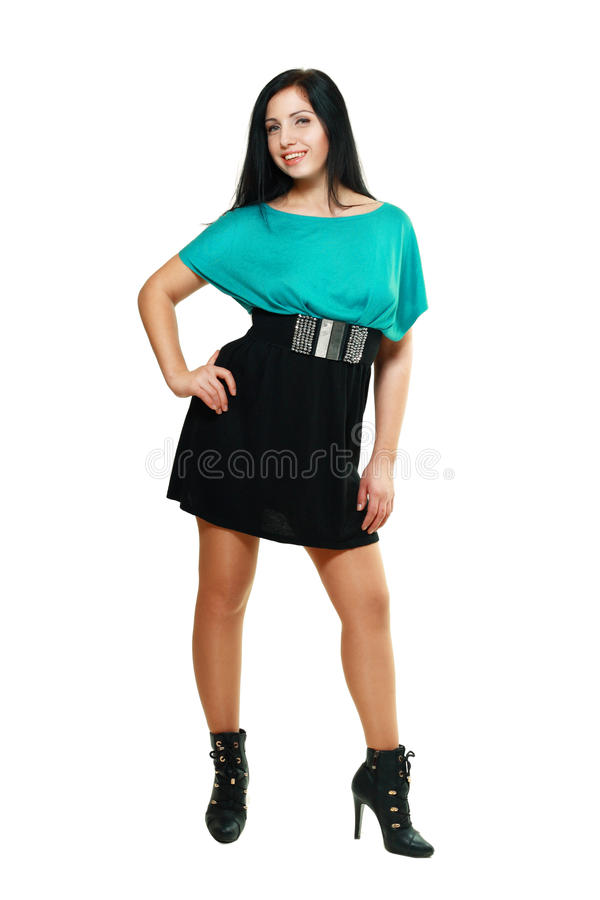 Kobieta w ostrej sukni obrazy stock