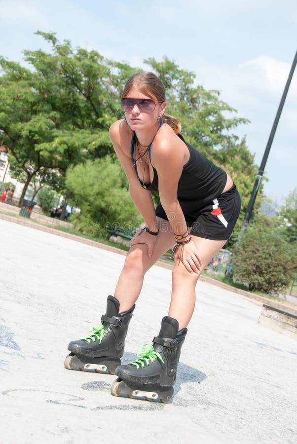 Kobieta w plenerowych aktywność zdjęcie stock
