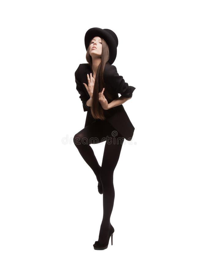 Kobieta w przypadkowych ubraniach zdjęcie stock