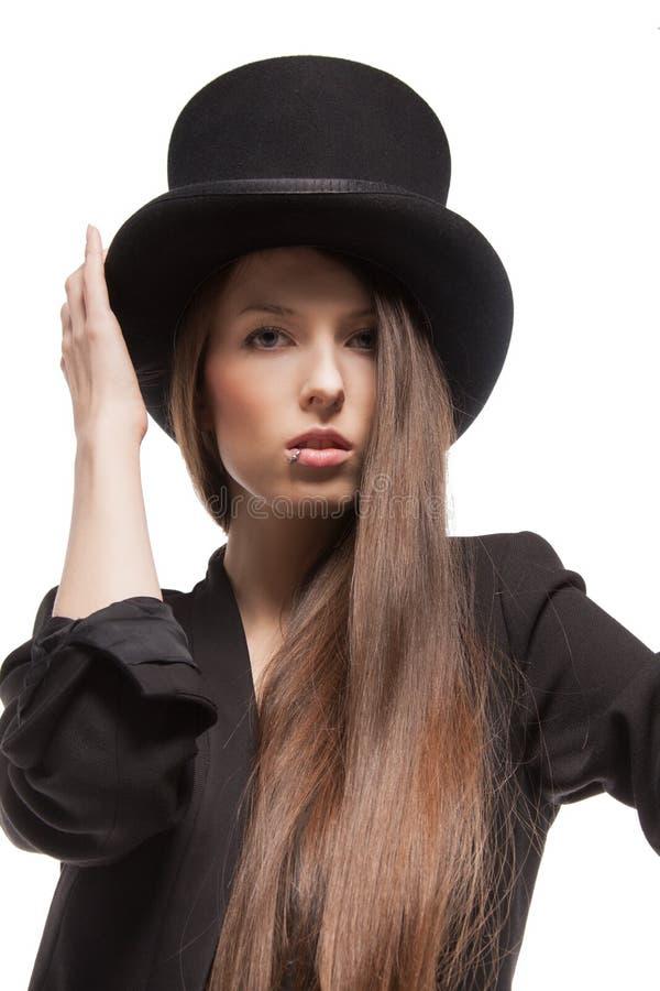 Kobieta w przypadkowych ubraniach zdjęcia royalty free