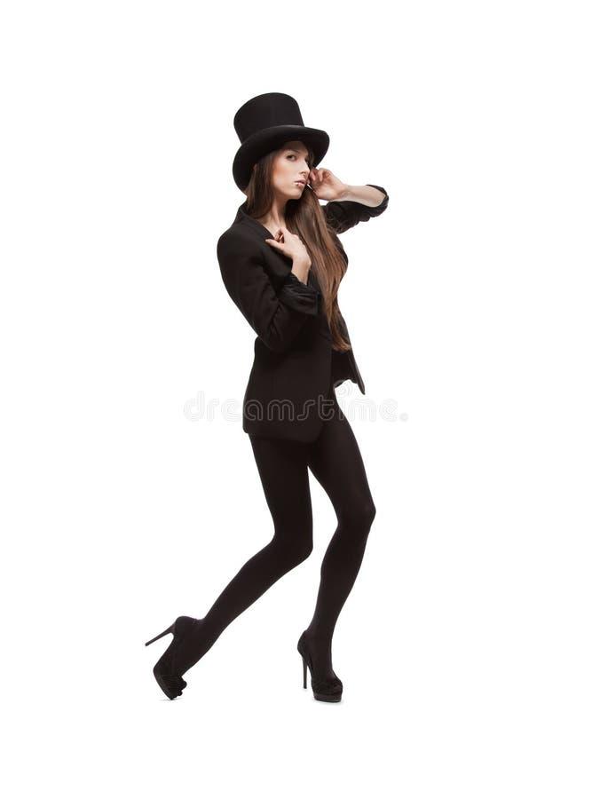 Kobieta w przypadkowych ubraniach obrazy stock