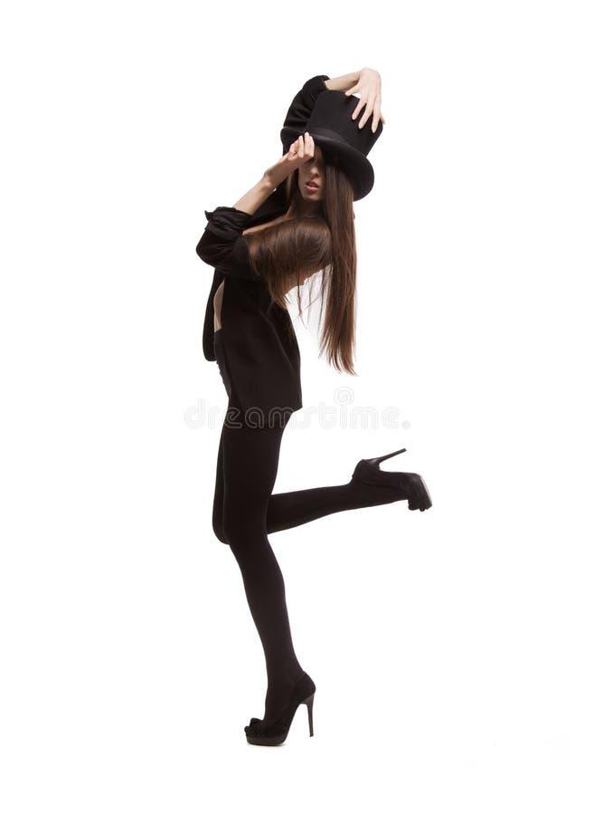 Kobieta w przypadkowych ubraniach fotografia stock