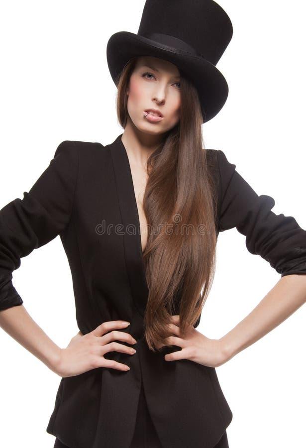 Kobieta w przypadkowych ubraniach zdjęcie royalty free