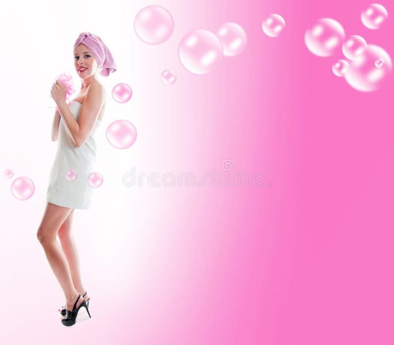 Kobieta W Ręczniku Zdjęcia Stock