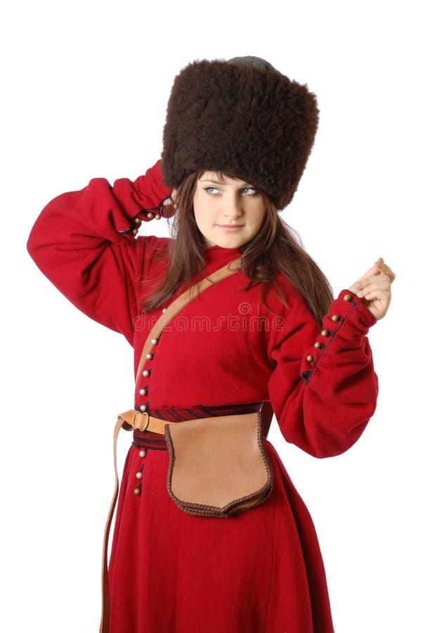 Kobieta w rocznika wojskowym uniformu fotografia royalty free