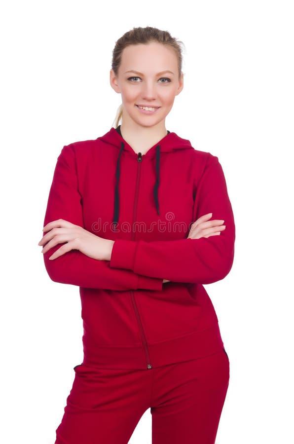 Kobieta w sporta pojęciu zdjęcia royalty free
