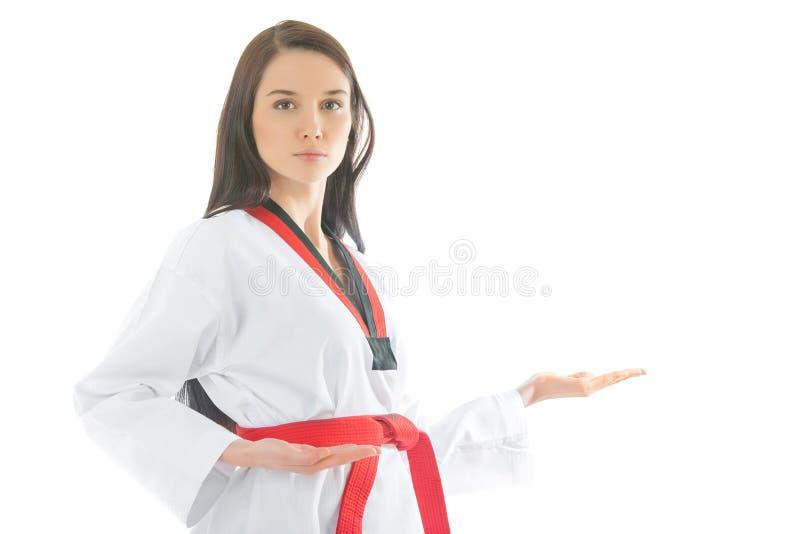Kobieta w sportach kimonowych zdjęcie royalty free