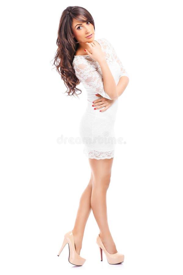 Kobieta w sukni fotografia stock