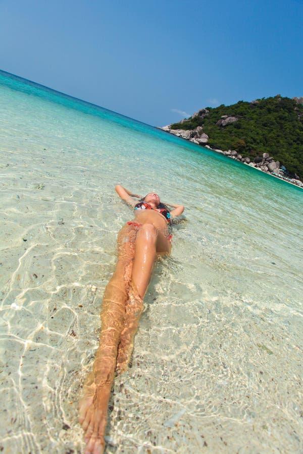 Kobieta w swimsuit fotografia royalty free