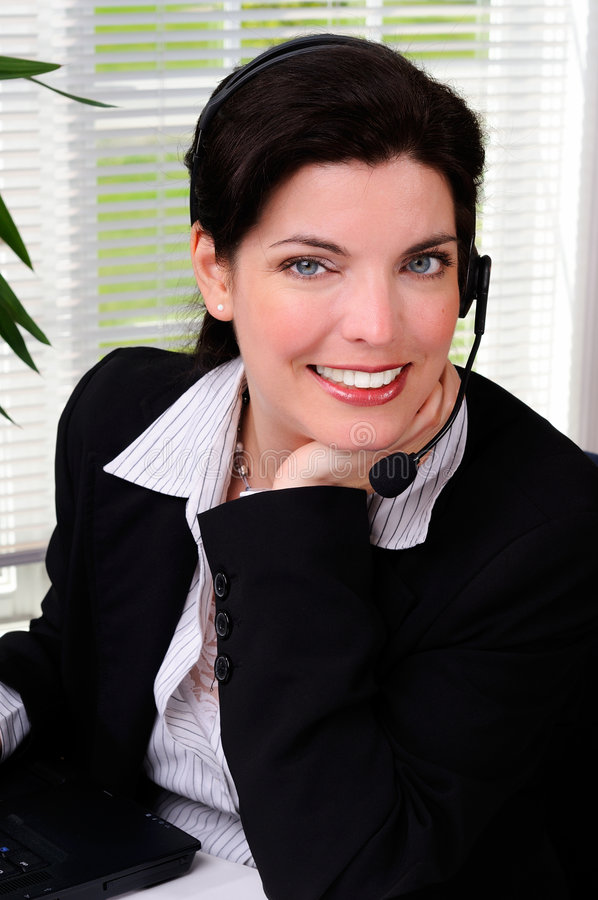 kobieta w telemarketingu zdjęcie royalty free