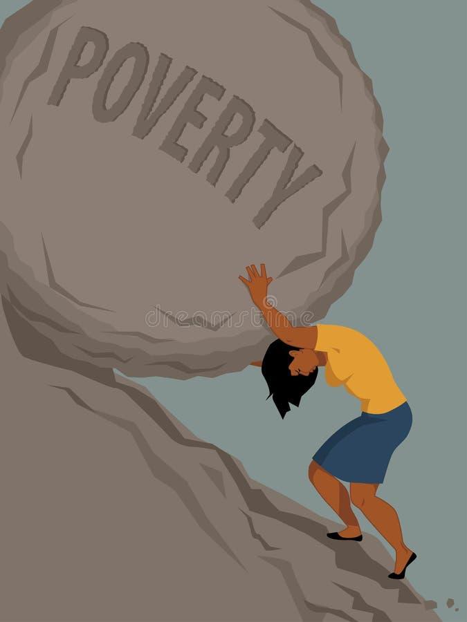 Kobieta w ubóstwie royalty ilustracja