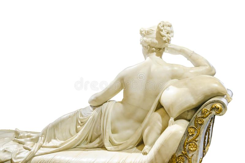 Kobieta widoku Tylnej rzeźby Odosobniona fotografia obrazy stock