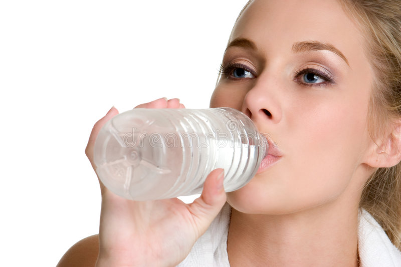 kobieta wody pitnej, fotografia royalty free