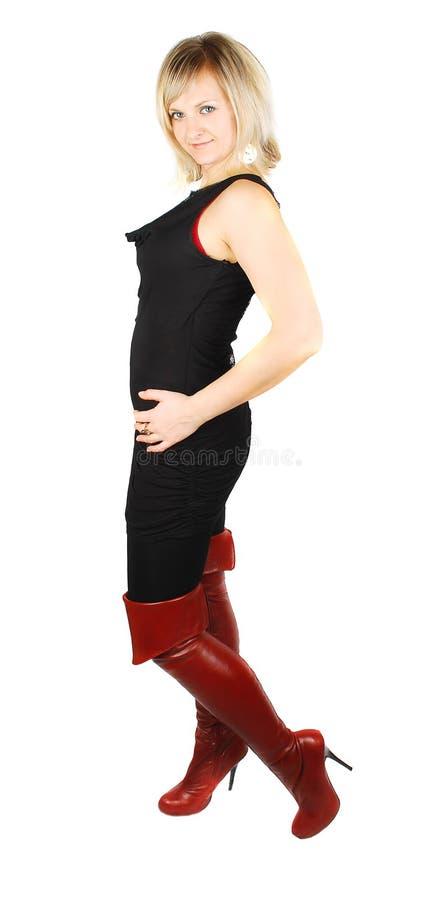 but kobieta wysoka czerwona obrazy stock