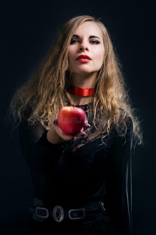 Kobieta Z Apple obraz royalty free