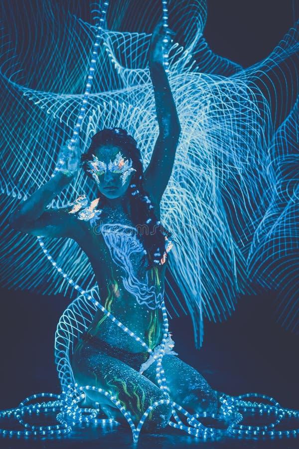 Kobieta z ciało sztuką fotografia royalty free
