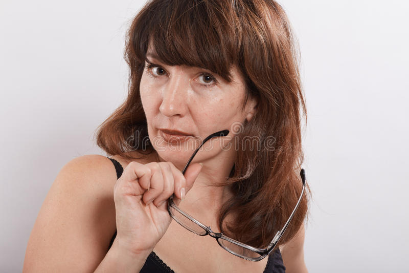 Kobieta z eyeglasses fotografia royalty free