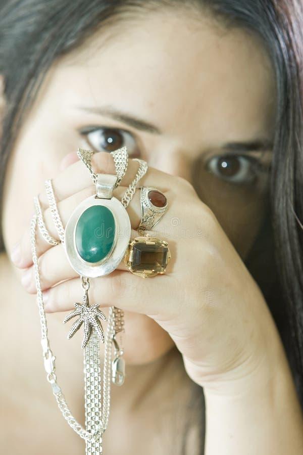 Kobieta z jewellery obraz stock