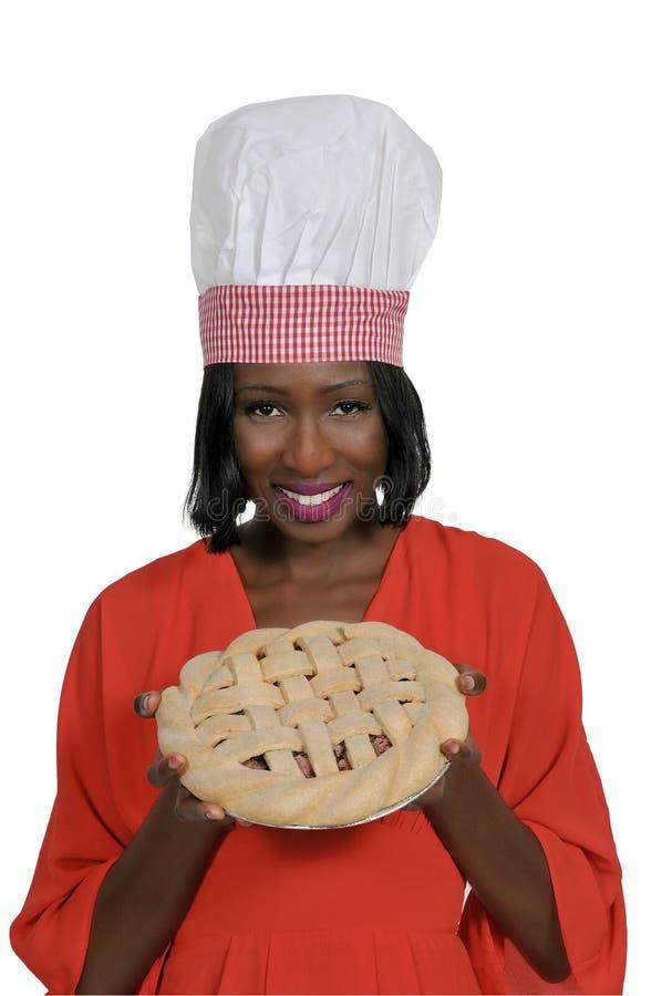 Kobieta z kulebiakiem obrazy stock