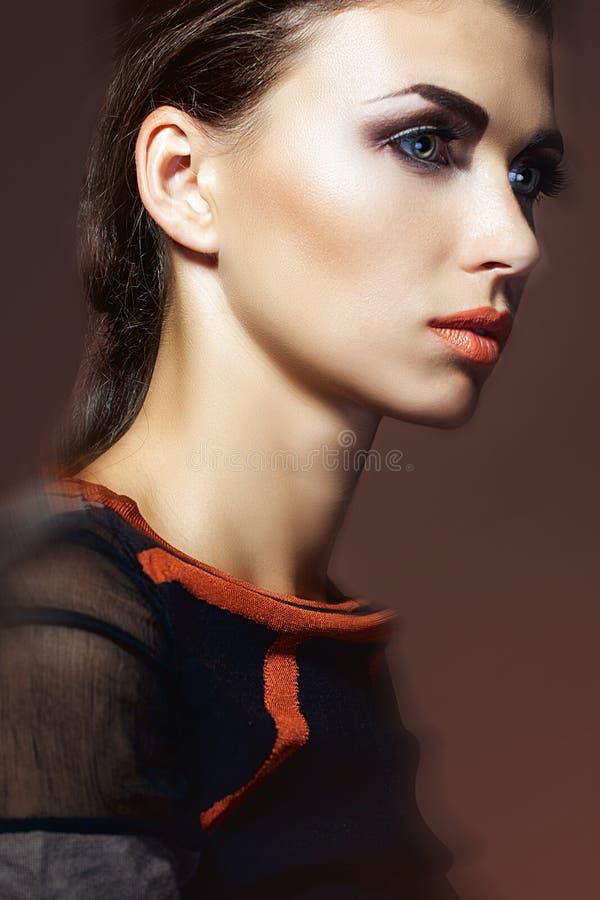 Download Kobieta Z Luksusowym Fryzury I Profesjonalisty Makeup Obraz Stock - Obraz złożonej z brąz, makeup: 28962729