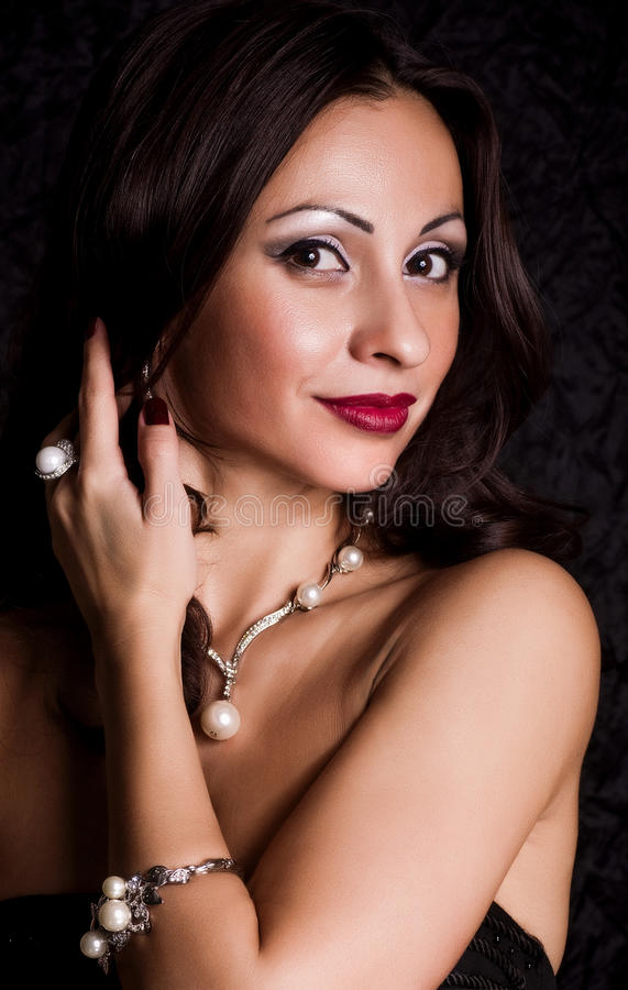 Download Kobieta z makeup obraz stock. Obraz złożonej z elegancja - 53780677
