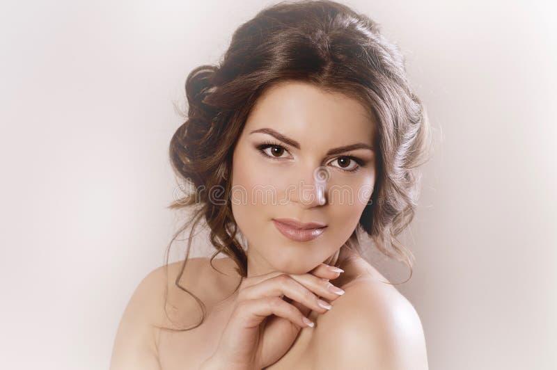 Kobieta z mody makeup fotografia royalty free